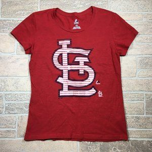 St. Louis Cardinals MLB Majestic Red Cotton Shirt